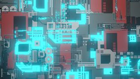 Abstract digital technology circuit board digital data connection royalty free illustration