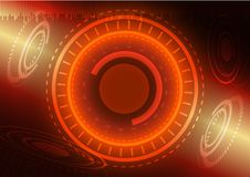 Abstract digital technology color background or futuristic interface. Royalty Free Stock Image