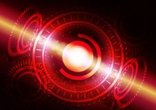 Abstract digital technology color background or futuristic interface. Royalty Free Stock Images