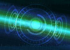 Abstract digital technology color background or futuristic interface. Stock Images