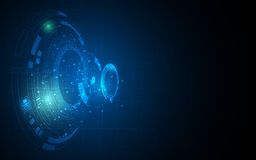 Abstract digital technology computer networking innovation concept background Stock Image
