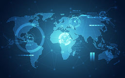 Free Abstract Digital Technology Connection On Earth Concept Background, Vector Illustration Royalty Free Stock Image - 92335116