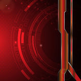 Abstract digital technology with metallic frame banner background template Royalty Free Stock Image