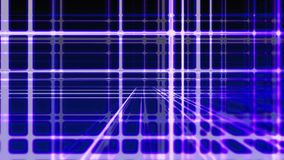 Abstract digital vertical and horizontal blue lines background, seamless loop ready stock footage