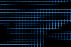 Abstract digital vertical and horizontal elettric blue lines background,  texture technology Stock Image