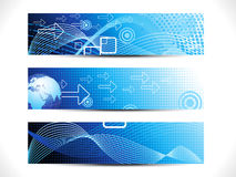 Abstract digital web header set Stock Photography