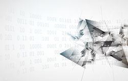 Abstract digital web site header. Banner background Royalty Free Stock Image