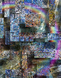Abstract. Dimensional Expressionist Inspired Multi hued Abstract Royalty Free Stock Image