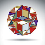 Abstract dimensional sphere with kaleidoscope effect. Stylish or Stock Photography