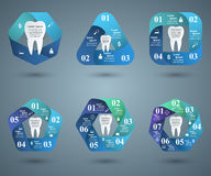 Abstract 3DInfographic. Tooth icon. Business Infographics origami style Vector illustration. Tooth icon Royalty Free Stock Photo
