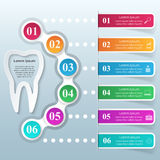 Abstract 3DInfographic. Tooth icon. Business Infographics origami style Vector illustration. Tooth icon Stock Images