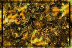Abstract a dirty background of gold with swirls Royalty Free Stock Photos