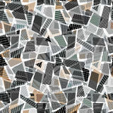Abstract dirty line textures seamless pattern. Royalty Free Stock Photo