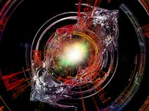 Computing Radial Rays Stock Photo