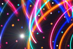 Abstract/Disco Background. Colorful lines and circles with a radiant flare to use as a background or wallpaper vector illustration