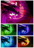 Abstract disco background different colors Royalty Free Stock Photography