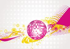 Abstract disco-ball background Royalty Free Stock Images