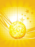 Abstract disco ball with wave Stock Images