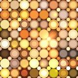 Abstract disco circles vector seamless pattern. Abstract disco circles mosaic vector seamless pattern vector illustration