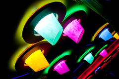 Abstract disco club illumination. With circles Stock Photos