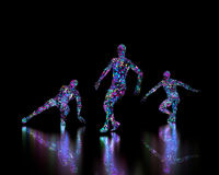 Abstract disco dancers Royalty Free Stock Image