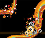Abstract Disco Dancing Background Royalty Free Stock Photos