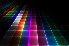 Abstract disco floor background Royalty Free Stock Images