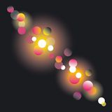 Abstract disco lights dots pattern Stock Photos