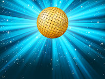 Abstract disco party lights background. EPS 8. Abstract disco party lights and gplden disco ball background. EPS 8 vector file included Stock Photos