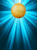 Abstract disco party lights background. EPS 8. Abstract disco party lights and gplden disco ball background. EPS 8 vector file included Royalty Free Stock Image