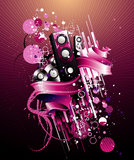 Abstract disco vector composition Stock Photos