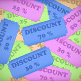 Abstract discount background Royalty Free Stock Images