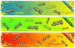 Abstract discount banner set Stock Photos