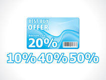 Abstract discount card Royalty Free Stock Photography
