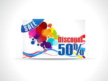 Abstract discount card template Royalty Free Stock Photos