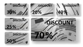 Abstract discount cards Royalty Free Stock Photography