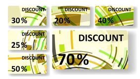 Abstract discount cards Stock Photo