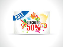 Abstract discount coupon. Vector illustration Royalty Free Stock Photo