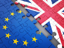 Abstract disintegration Euro union and Britain Royalty Free Stock Photo