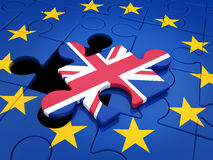 Abstract disintegration Euro union and Britain Stock Photography