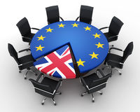 Abstract disintegration Euro union and Britain Stock Images