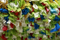 Abstract disposable plastic bags Stock Images