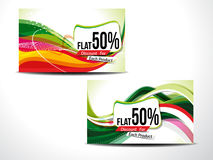 Abstract Disscount Card Stock Image