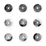 Abstract distorted spheres in black Royalty Free Stock Images