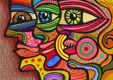 Abstract Diverse Faces Royalty Free Stock Image