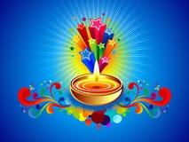 Abstract diwali background. Vector illustration stock illustration