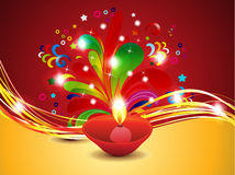 Abstract diwali background with deepak Stock Image
