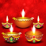 Abstract diwali background with deepak Stock Photo