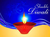 Abstract diwali background with deepak. Vector illlustration Stock Photos