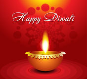 Abstract diwali background with diyali. Vector illustration Royalty Free Stock Photography
